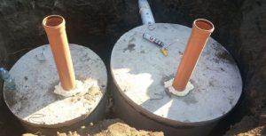 вентиляция септика из бетонных колец, автономной канализации